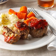 Favorite Meat Loaf Cups Recipe -My family enjoys meat loaf, but sometimes I can't spare the hour or more it takes to bake in the traditional shape. A quick alternative is to divide the meat mixture into muffin cups for individual servings that are ready in less than 30 minutes. —Sue Gronholz, Beaver Dam, Wisconsin