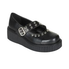 Creepers for during summer  (or winter with cute socks.. ;)  ) www.attitudeholland.nl #shoes #creepers #gothic #punk #edgy