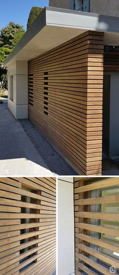 Wood Architecture Thermopin skylight on a medical office extension . House Cladding, Timber Cladding, Exterior Cladding, Wood Architecture, Architecture Details, Carport Modern, Wood Facade, Modern Pools, Garden Buildings