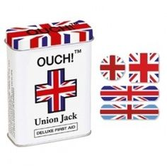 Union Jack band aids, can I have these please? Best Of British, British Things, British Decor, Britain's Got Talent, Union Flags, Rule Britannia, British Invasion, London Calling, Union Jack