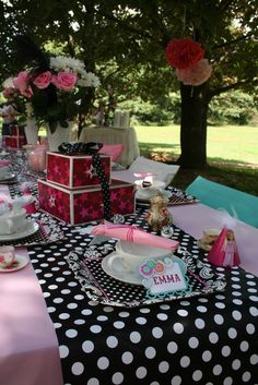 american girl doll tea party