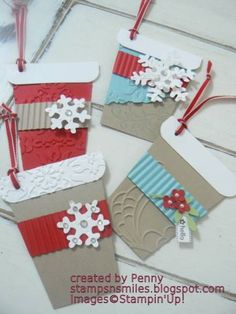 coffee cup gift tags - so cute!!