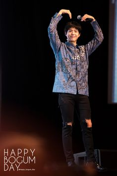 """""""170113 ♡ park bogum asia tour fanmeeting in jakarta happy bogum day // do not edit or remove watermark."""""""