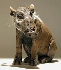 Clay Warthog Sculptures