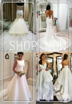 Wedding Dress Trends from Spring 2019 Bridal,Wedding dresses that fit your style and budget! Cheap White Wedding Dresses, Tailored Wedding Dress, Wedding Dresses Under 100, Wedding Dress Train, Wedding Dress Trends, Princess Wedding Dresses, Bridal Wedding Dresses, Different Bridesmaid Dresses, Bridesmaid Dresses Online
