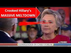 SR#1271 NBC Crew - Crooked Hillary's MASSIVE MELTDOWN at Commander-in-Chief Forum - YouTube
