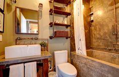 Wood Ceilings, Bedroom Loft, Wall Storage, Exposed Brick, Large Windows, Kitchen And Bath, Beams, The Originals, Living Room