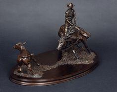 'Cutter' bronze sculpture by Gill Parker