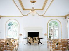 The ceremony room at Northbrook Park by Peachey Photography