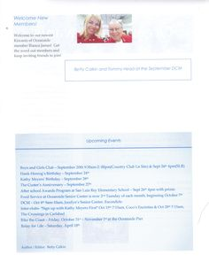 Page 2 of September, 2014 Newsletter for Kiwanis Club of Oceanside