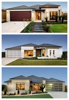 most popular modern flat roof house design - My House Plans, Modern House Plans, Modern House Design, Modern Houses, House Paint Exterior, Exterior House Colors, Facade House, House Roof, Style At Home