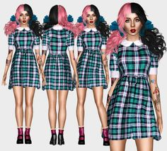 """renansims: """"  Melanie Martinez - Training Wheels Dress By Renansims  ( REAL LOOK ) For more contents, visit my page on facebook ( ❤ ) Please do not Modify or Retexture my meshes without my..."""