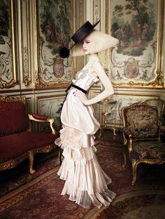 Raquel Zimmermann in Christian Lacroix Haute Couture