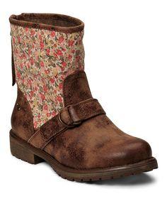 Tan Floral Surrey Boot