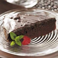 Chocolate Ganache Cake Recipe from Taste of Home
