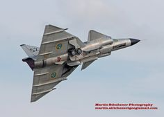 Royal Swedish Air Force Historic Flight Saab Viggen Waddington 2014 by Martin D Stitchener