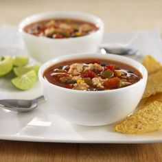 Ground turkey, zesty tomatoes, Southwestern vegetables and chicken broth come together for an easy flavorful soup