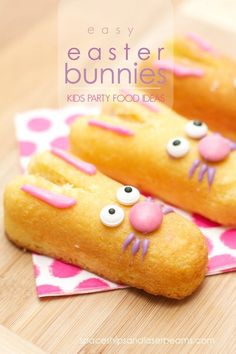 Kid's Party Food Ideas: Easy Easter Bunnies!