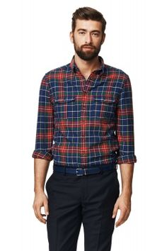 Stamford Rough Twill Check Fitted Button Down Shirt Iron Shirt, Stamford, Shirt Outfit, Shop Now, Button Down Shirt, Men Casual, Plaid, Mens Fashion, Formal