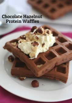 Low Carb Chocolate Hazelnut Waffles