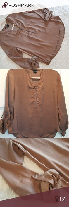 Forever 21 Brown Top ☆New without tags  ☆My home is smoke-free and pet-free.   ☆No trades  ☆Bundle and SAVE! Forever 21 Tops Blouses