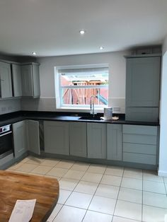 We updated this kitchen to a beautiful shade of Grey, RAL 7038 👌 Smart Kitchen, Kitchen Respray, Shades Of Grey, Home Improvement, Kitchen Cabinets, Modern, Beautiful, Home Decor, Trendy Tree