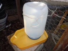 Bebedero de agua para gallinas hecho de reciclables - YouTube