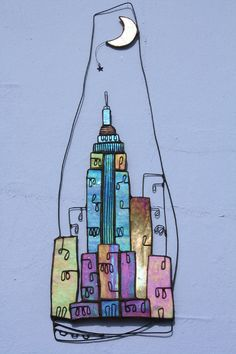 Wall Art - Glass Art with a little twisted wire for interest and form.