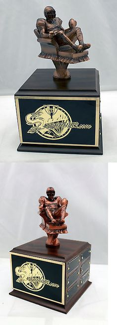 Other Football 2024: Fantasy Football Trophy 12 Year Armchair Qb - Free Engraving! Ships In 1 Day! BUY IT NOW ONLY: $48.99 Football Trophies, Funny Football, Fantasy Football, Armchair, Decorative Boxes, Ships, Free, Sofa Chair, Funny Soccer
