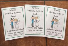 Activity books I had made for the kids