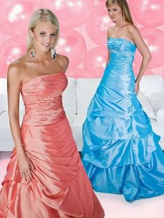 2012 Style Ball Gown Strapless Beading  Sleeveless Floor-length Taffeta Prom Dress / Evening Dress