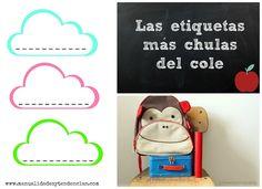 Vuelta al cole: #etiquetas #descargables / Back to school: #printable #tags…