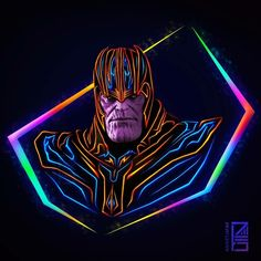 Aniket Jatav Marvel Neon The Mad Titan: Thanos Marvel Dc Comics, Marvel Avengers, Heros Comics, Marvel Fan Art, Thanos Marvel, Marvel Heroes, Superheroes Wallpaper, Marvel Wallpaper, Deadpool