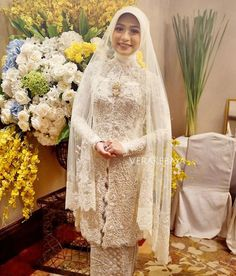 Instagram media by verakebaya - #akadnikah #kebaya #weddingdress #hijab #hijabers #weddinghijab #lace Bride : @nadhiraloebis  Makeup : @petty_kaligis  Venue : @shangrilajkt  Dress by me  ___