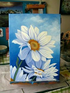60 excellent but simple acrylic painting ideas for beginners - excellent but simple acrylic painting ideas for beginnersTrendy painting art projects for kids watercolor ideasTrendy painting art projects for kids watercolor ideasRainbow Acrylic Abstract Daisy Painting, Acrylic Painting Flowers, Simple Acrylic Paintings, Painting & Drawing, Painting Tips, Acylic Painting Ideas, Decorative Paintings, Acrylic Painting Lessons, Acrylic Painting Tutorials