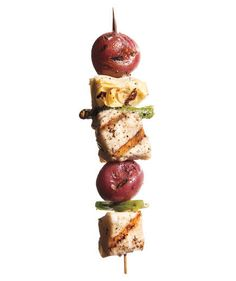 Halibut, Potato, and Scallion Kebabs | Need to add more thrill to your grill? Toss on one of these unusual, tasty skewer combinations.