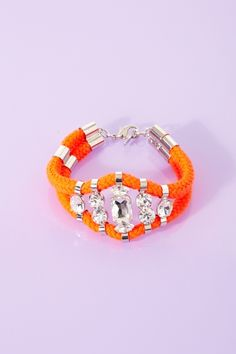 Jaipur Crystal Rope Bracelet