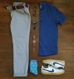 Low 80s sunny. Chinos x @uniqlousa  Henley x @gap  Sneakers x @nike @jcrew  Watch x @timex  Glasses/Clip-ons x @warbyparker  #menswear #mensstyle #mensfashion #fashion #style #stylish #instastyle #instafashion #instadaily #daily #wiw #wiwt #whatiwore #whatiworetoday #outfit #todaysoutfit #ootd #outfitoftheday #look #lookbook #dailylook #denim #shoes #accessories #watch #streetstyle #gqstylehunt #dailypic #outfitgrid #gq @outfitgrid @outfitrepost @sharpgrids @suitgrid by rather__dashing
