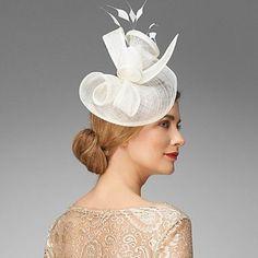 Ella Stem Fascinator by Phase Eight Fascinator Hats, Fascinators, Headpieces, Cream Fascinator, Ascot Hats, Bridal Hat, Cocktail Hat, Kentucky Derby Hats, Church Hats