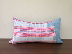 Vintage Homespun Hemp Batik Hand Woven Pillow by orientaltribe11, $60.00