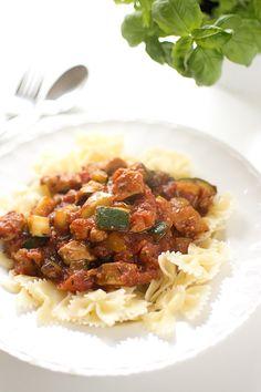 Kycklingpasta med tomat och zucchini   Middagstips & enkla recept på vardagsmat