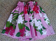 girl's pink hula pa'u hula skirt by SewMeHawaii on Etsy