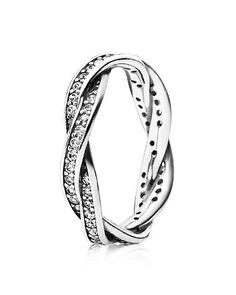 Pandora Ring - Sterling Silver & Cubic Zirconia Twist of Fate | Sterling silver/cubic zirconia | Imported | Style #190892CZ | Photo may have been enlarged and/or enhanced | Web ID:931569