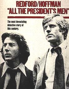 All the President's Men is a 1976 American political thriller film directed by Alan J. Pakula. based on the 1974 non-fiction book of the same name by Carl Bernstein and Bob Woodward, the two journalists investigating the Watergate scandal for The Washington Post. The film starred Robert Redford and Dustin Hoffman as Woodward and Bernstein, respectively.