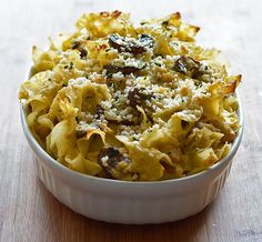 This vegan Chickpea Noodle Casserole with mushrooms recipe is loosely based on the concept of a tuna noodle casserole.