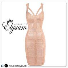 the Jessica bandage dress  Shine bright in this gold masterpiece search #houseofelysium Shop: www.elysiumlux.com  #elysiumlux #clothing #fashionista #fashion #bandage #houseofelysium #love #like4like #tagforlikes