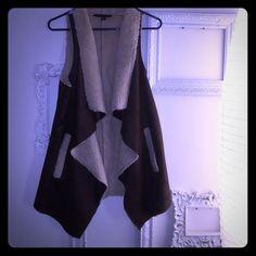 Brown fur vest Brown fur pocketed vest Foreign Exchange Jackets & Coats Vests