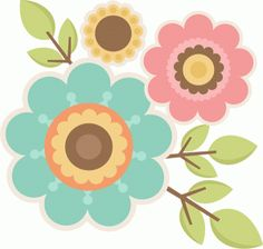 Silhouette Design Store - browse-daily-and-clearance Cute Clipart, Flower Clipart, Diy And Crafts, Paper Crafts, Clip Art, Flower Garlands, Floral Illustrations, Silhouette Design, Fabric Painting