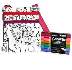 #CraftShout - Easter Egg Candy Alternative ~ Color Me Mine Messenger Bag!