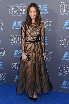 Critics Choice Awards 2015 - Jamie Chung in Yanina Couture